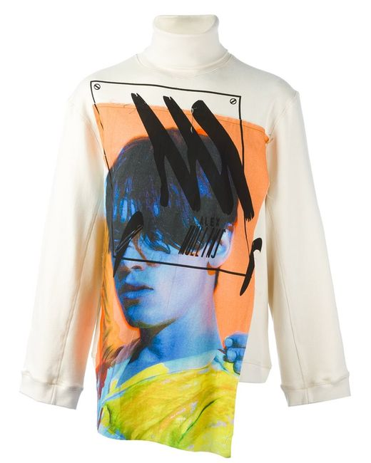 Alex Mullins | Мужское Nude & Neutrals Printed Patch Sweatshirt