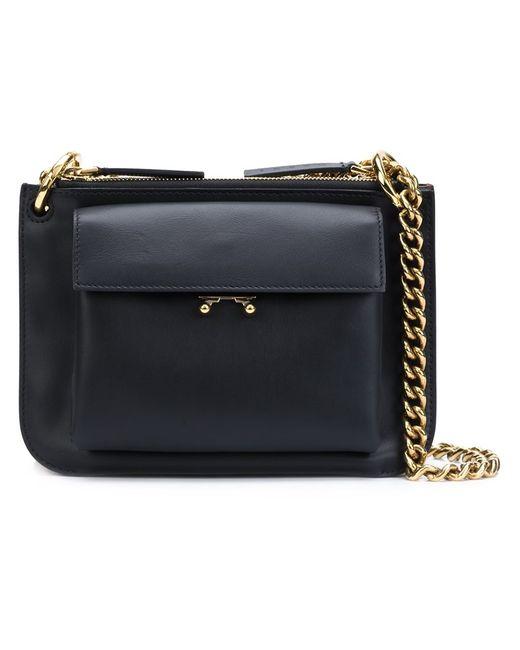 Marni | Чёрный Double Compartment Shoulder Bag