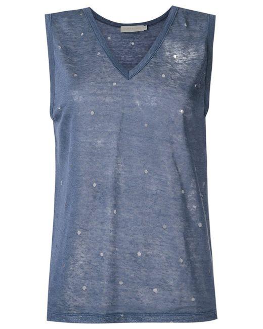 GIULIANA ROMANNO | Женское Синий Linen Top