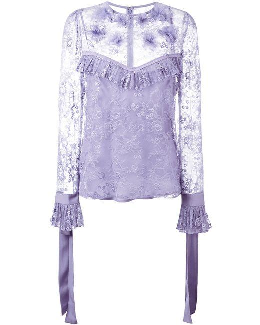 Elie Saab | Женское Розовый Lace Blouse Size 38