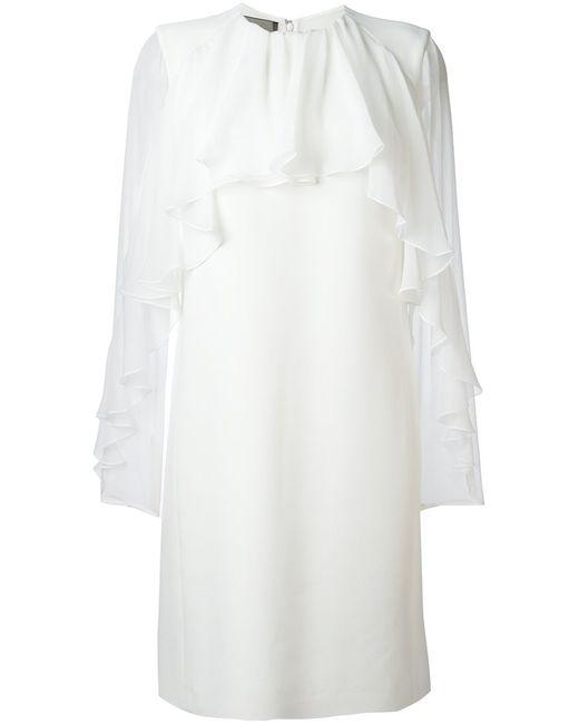 Giambattista Valli | Женское Белое Платье С Оборками