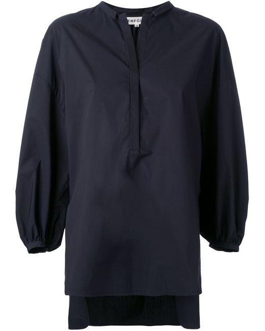 ENFÖLD | Женская Чёрная Блузка С Епископскими Рукавами