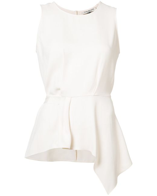 Halston Heritage | Женское Белый Tie Knot Tank Top Size 10