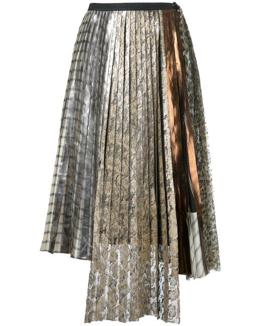 Antonio Marras   Женское Серебристый Lace Pleated Skirt