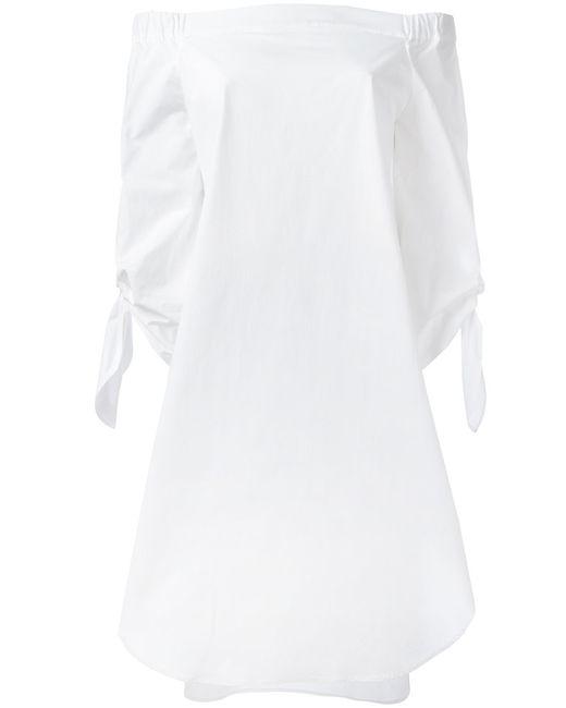 Erika Cavallini | Женское Белый Off-Shoulders Shift Dress