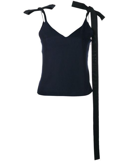 JACQUEMUS | Женское Синий Ribbon-Tie Shoulder Camisole 40 Virgin Wool