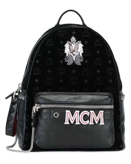 MCM | Женский Чёрный Рюкзак С Логотипом