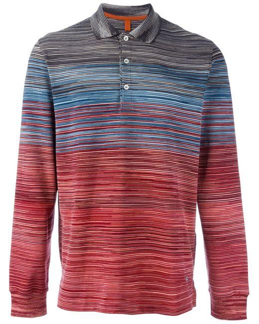 Missoni | Мужское Многоцветный Gradient Striped Polo Shirt
