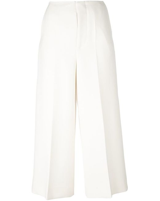 Marni | Nude & Neutrals Cropped Wide Leg Trousers