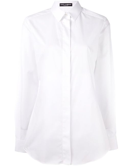 Dolce & Gabbana | Женская Белая Классическая Рубашка