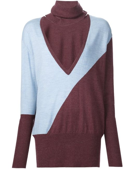 TOME | Женское Синий Cut-Out Turtleneck Sweater