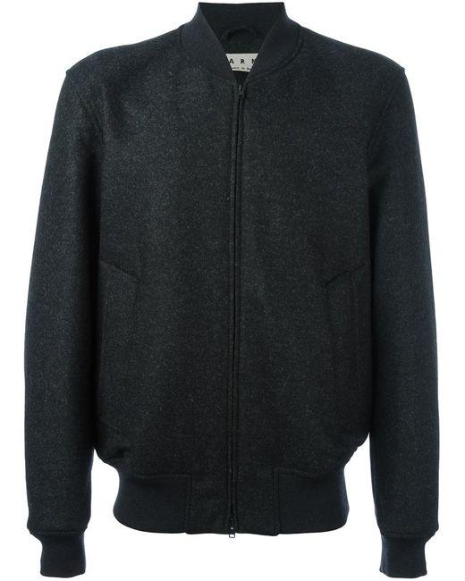 Marni | Мужская Чёрная Куртка-Бомбер