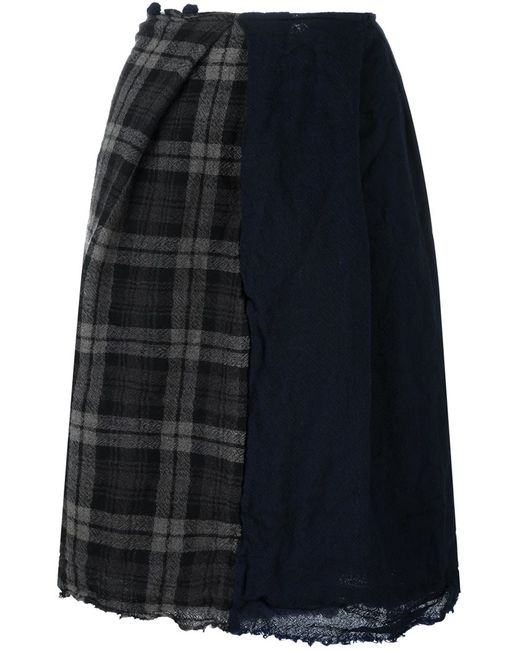 DANIELA GREGIS | Женское Синий Checked Detail A-Line Skirt