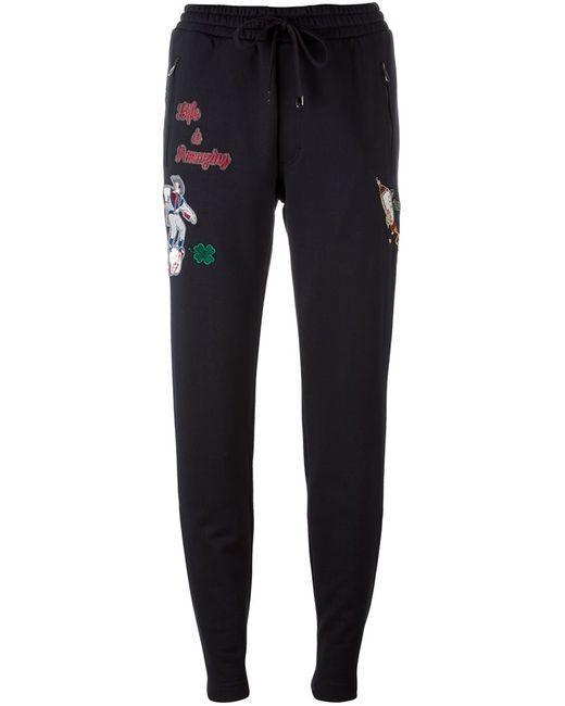 Dolce & Gabbana   Синий Western Patch Track Pants