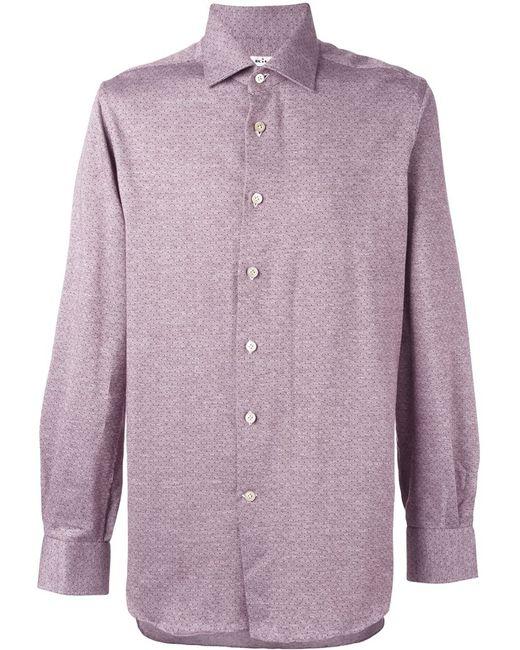 Kiton | Мужское Красный Jacquard Button Down Shirt
