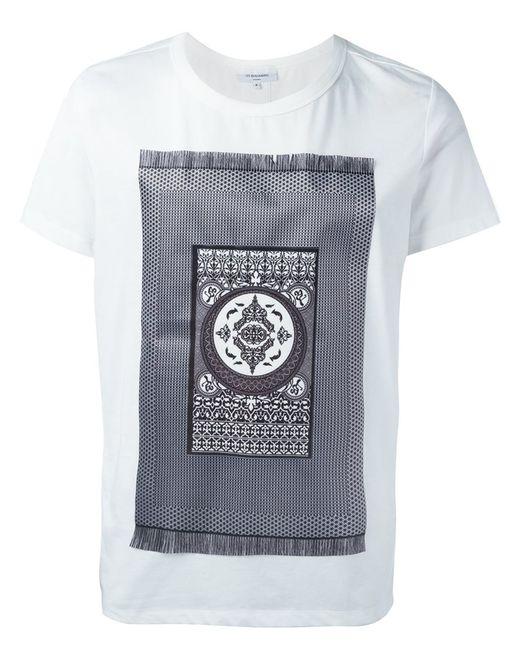 Les Benjamins | Мужское Белый Carpet Print T-Shirt