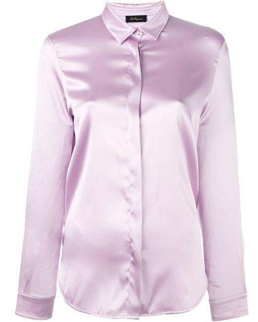Les Copains   Женская Розовая Рубашка С Потайной Застежкой Спереди
