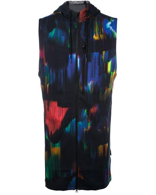 Y-3 | Мужское Чёрное Пальто Без Рукавов С Капюшоном