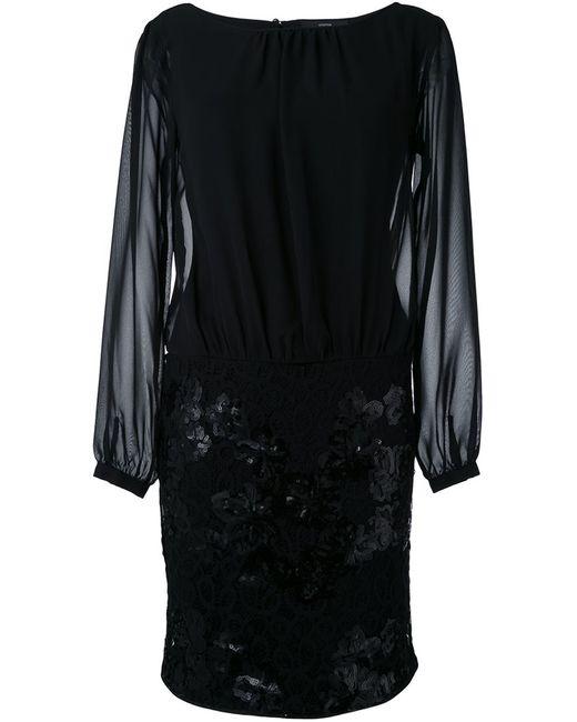 Steffen Schraut | Женское Чёрный Sequined Semi Sheer Dress