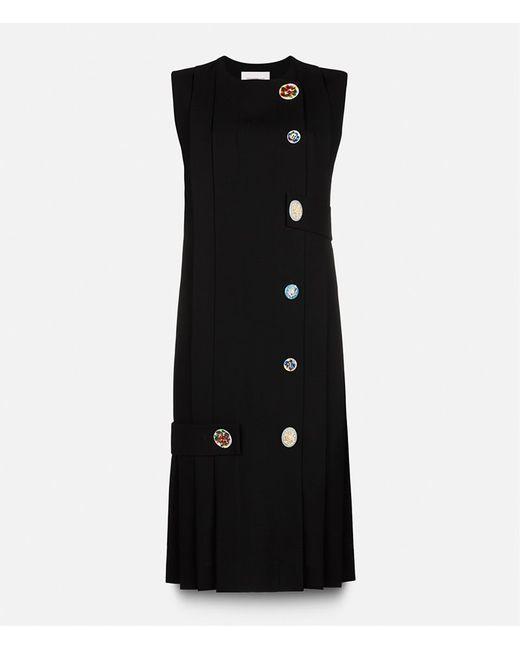 Christopher Kane | Женское Чёрный Pleated Strap Dress