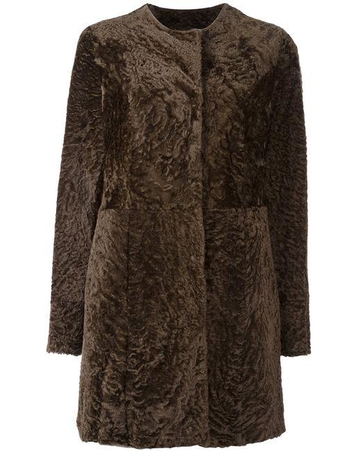 Drome | Женское Коричневое Шерстяное Пальто