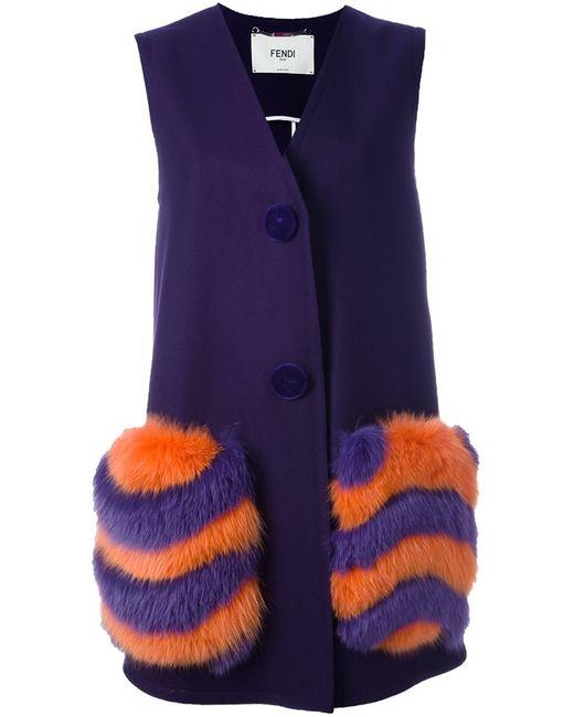 Fendi | Женское Розовый Fur Pocket Long Waistcoat