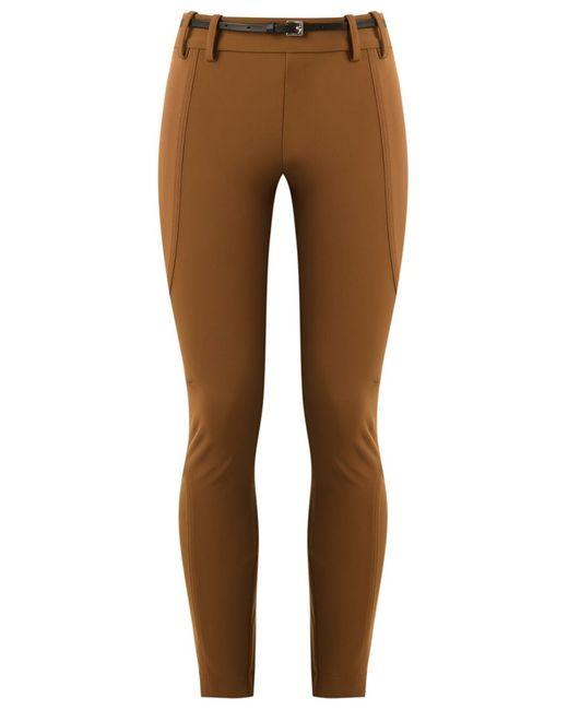 GLORIA COELHO   Коричневый Panelled Skinny Trousers