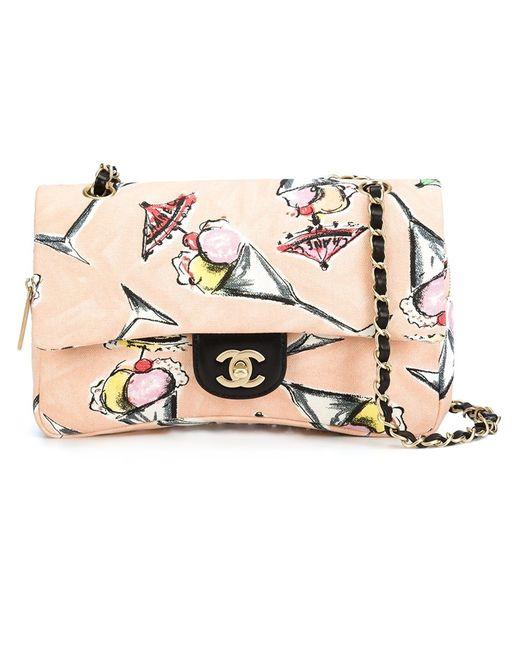 Chanel Vintage | Женское Розовый Ice Cream Sundae Printed Shoulder Bag