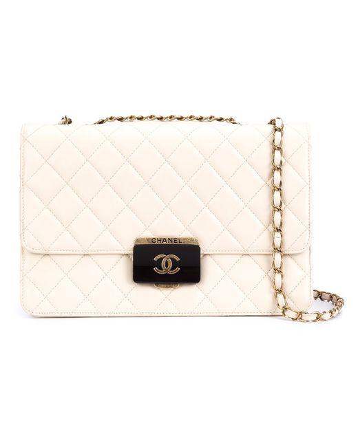 Chanel Vintage | Nude & Neutrals Стеганая Сумка На Плечо