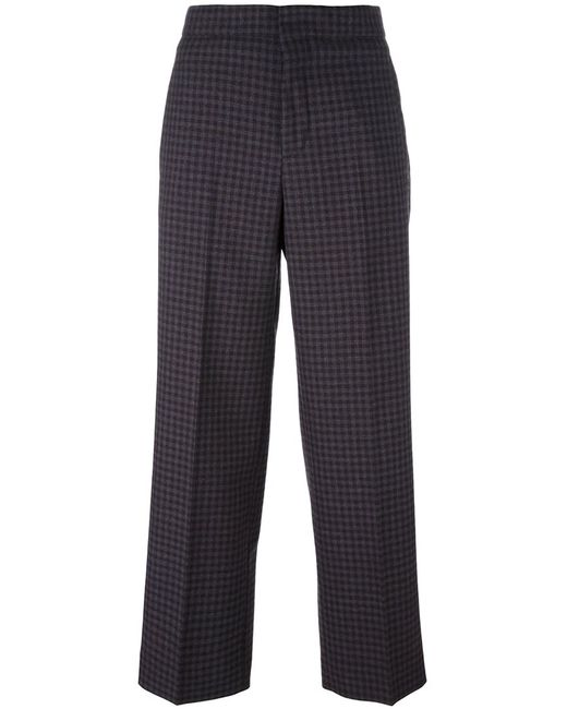 Incotex | Коричневый Checked Wide-Leg Trousers