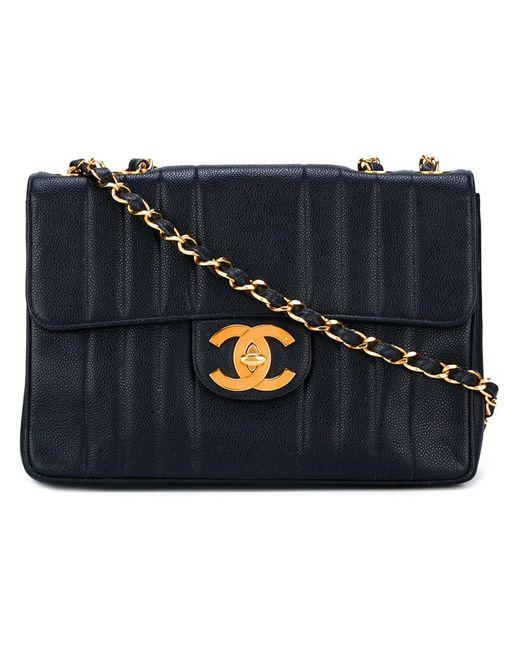 Chanel Vintage | Женская Синяя Сумка На Плечо