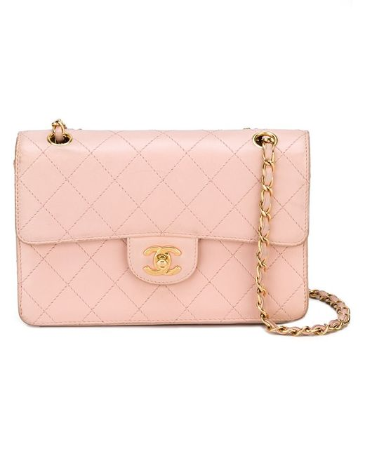 Chanel Vintage   Женская Розовая Стеганая Сумка