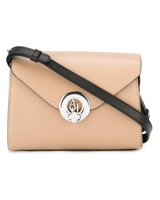 ARMANI JEANS | Nude & Neutrals Flap Closure Crossbody Bag