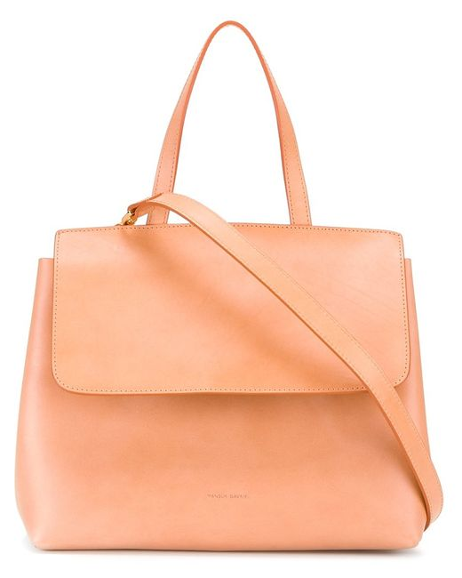 MANSUR GAVRIEL | Nude & Neutrals Top Flap Cross-Body Bag