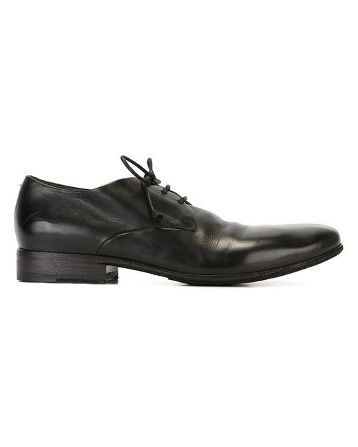 Marsell | Мужские Чёрные Классические Туфли На Шнуровке