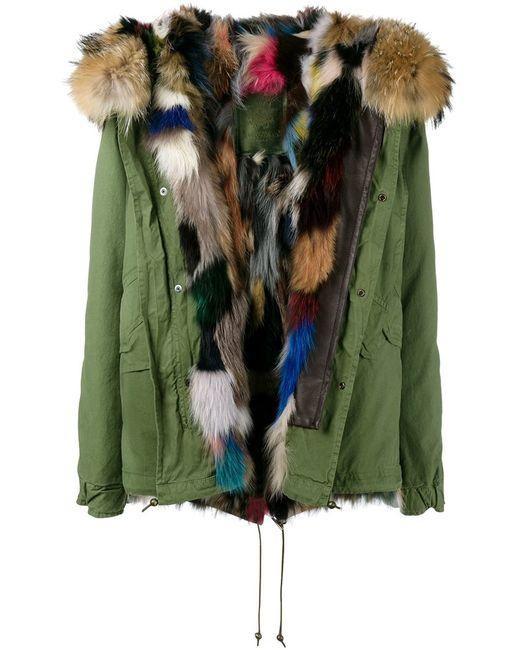 MR & MRS Italy | Женское Зелёный Fox And Raccoon Fur Lined Parka