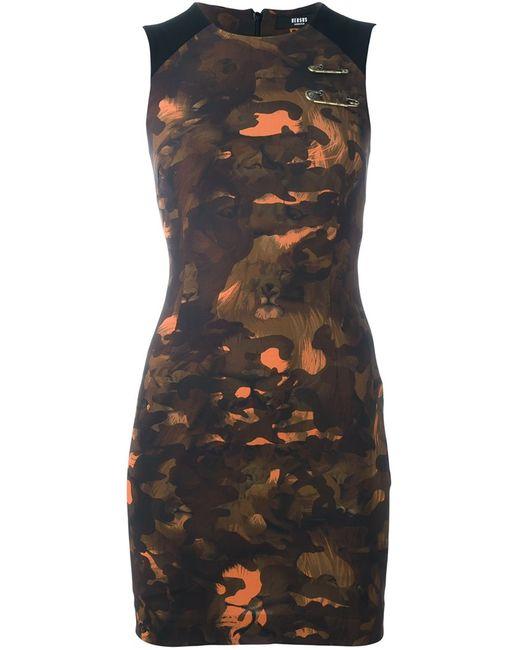 Versus | Женское Чёрный Camouflage Print Fitted Dress