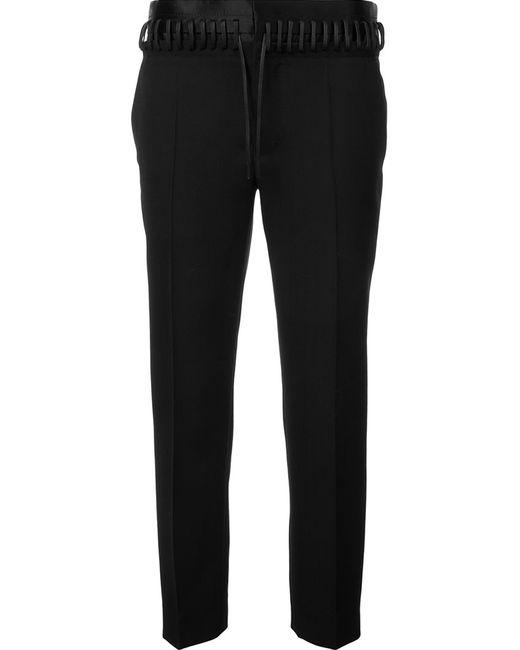 Haider Ackermann | Чёрный Whipstitch Waistband Trousers