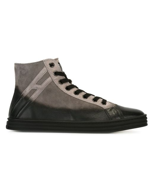 Hogan Rebel   Мужское Серый Panelled Hi-Top Sneakers