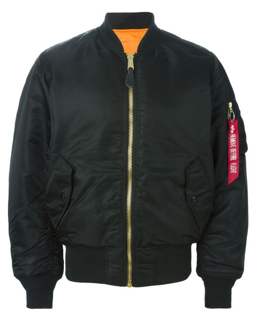 Alpha Industries | Мужское Чёрный Classic Bomber Jacket