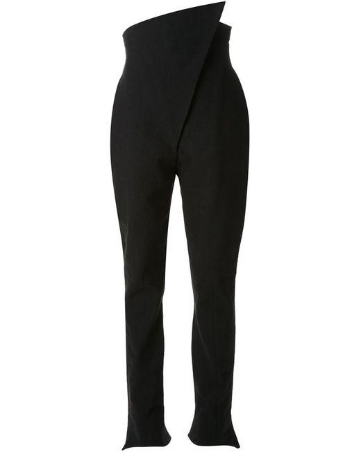 AGANOVICH | Чёрный Asymmetric High Waist Trousers
