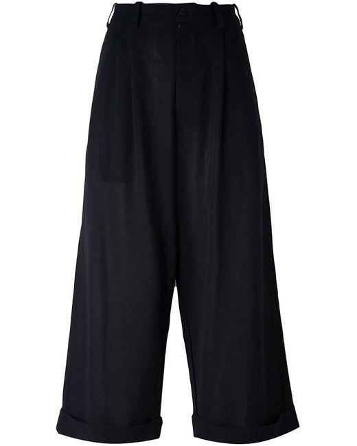 YOHJI YAMAMOTO VINTAGE | Чёрный Cropped Wide Leg Trousers