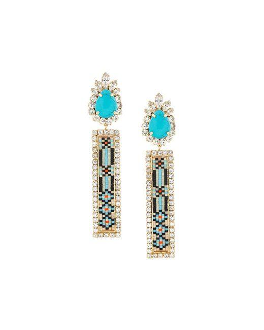 Shourouk | Синий Bastet Clip-On Earrings