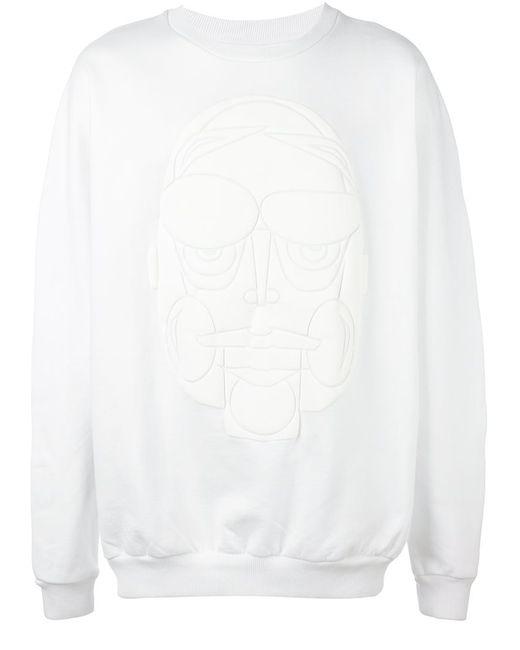 Henrik Vibskov | Мужское Белый Puffa Face Sweatshirt