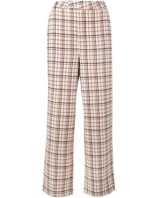 Ganni | Nude & Neutrals Duncan Check Trousers