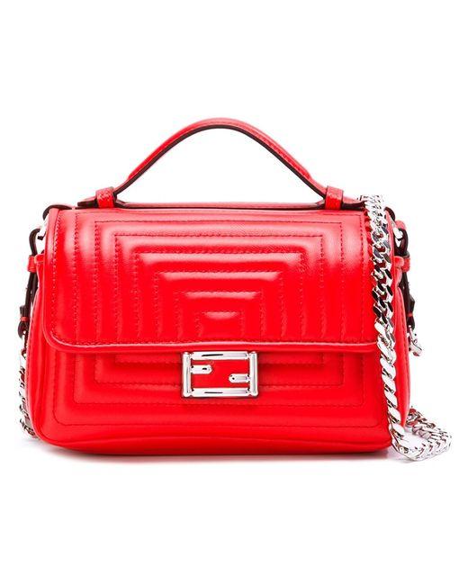 Fendi | Красный Micro Double Baguette Crossbody Bag