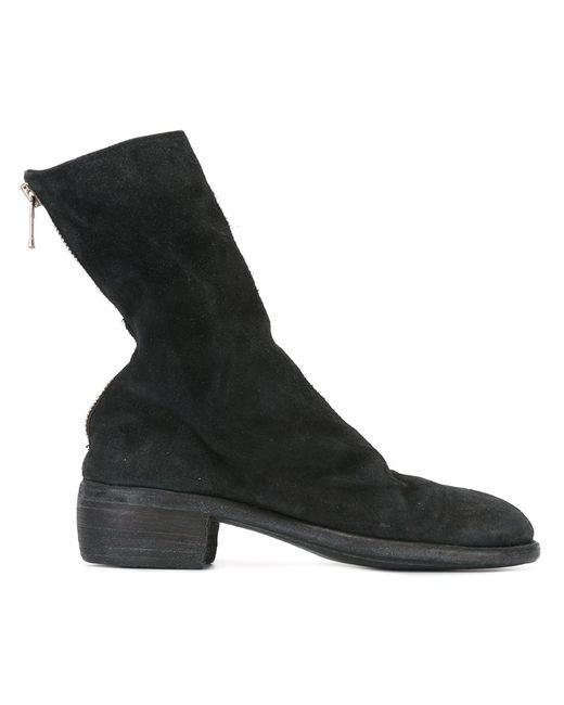 GUIDI   Женские Чёрные Ботинки На Молнии