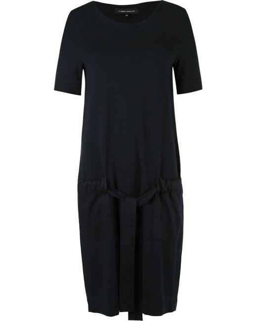 GLORIA COELHO | Женское Чёрный Side Pockets Dress