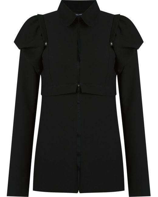 GLORIA COELHO | Женское Чёрный Removable Shoulder Puffs Jacket