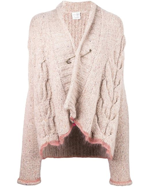 Forte Forte | Женское Nude & Neutrals Cable Knit Safety Pin Cardigan